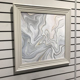 Smooth Silver Abstract 75cm x 75cm