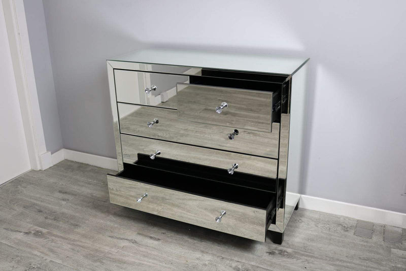 Simply Mirror 5 Drawer Chest