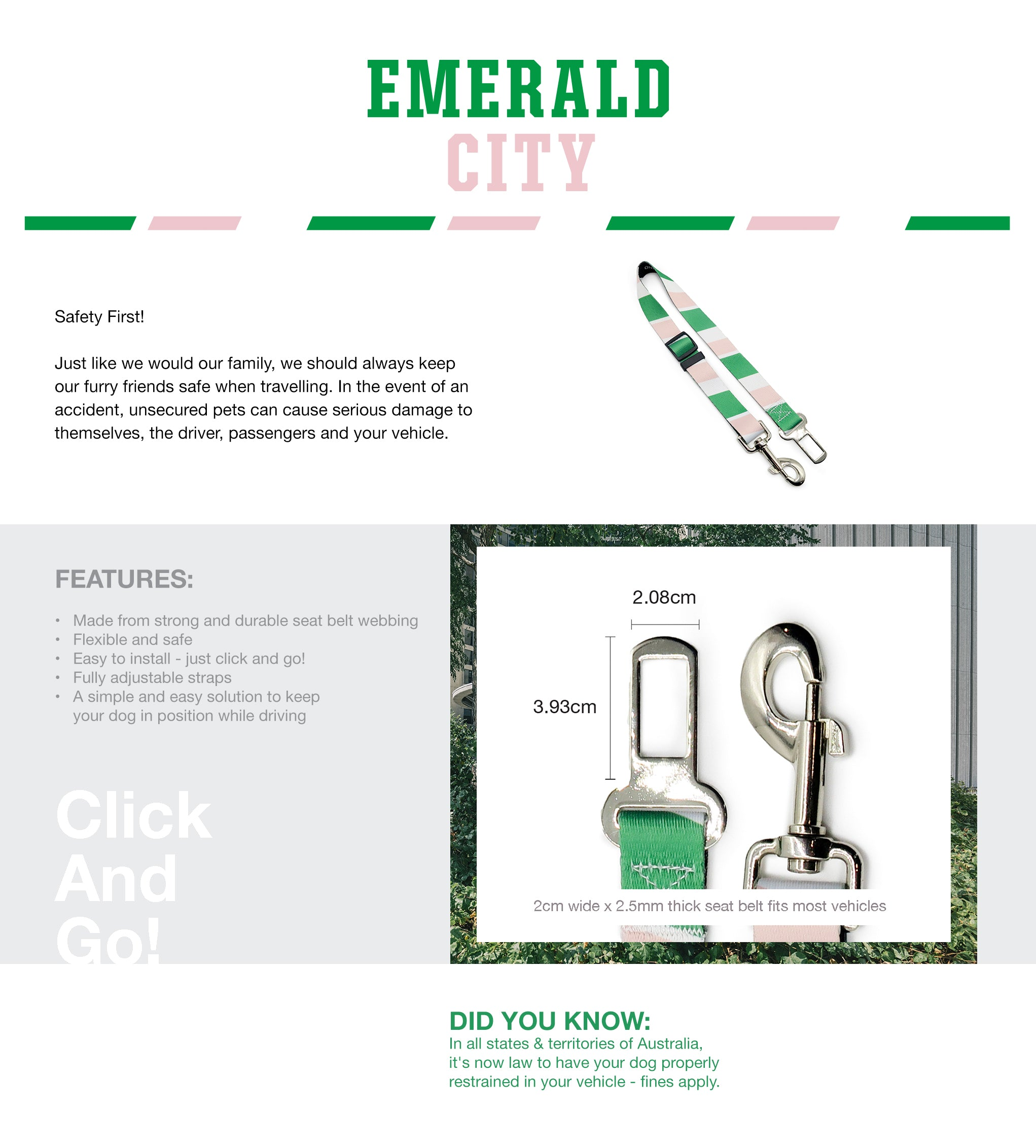 Emerald City Seat Belt