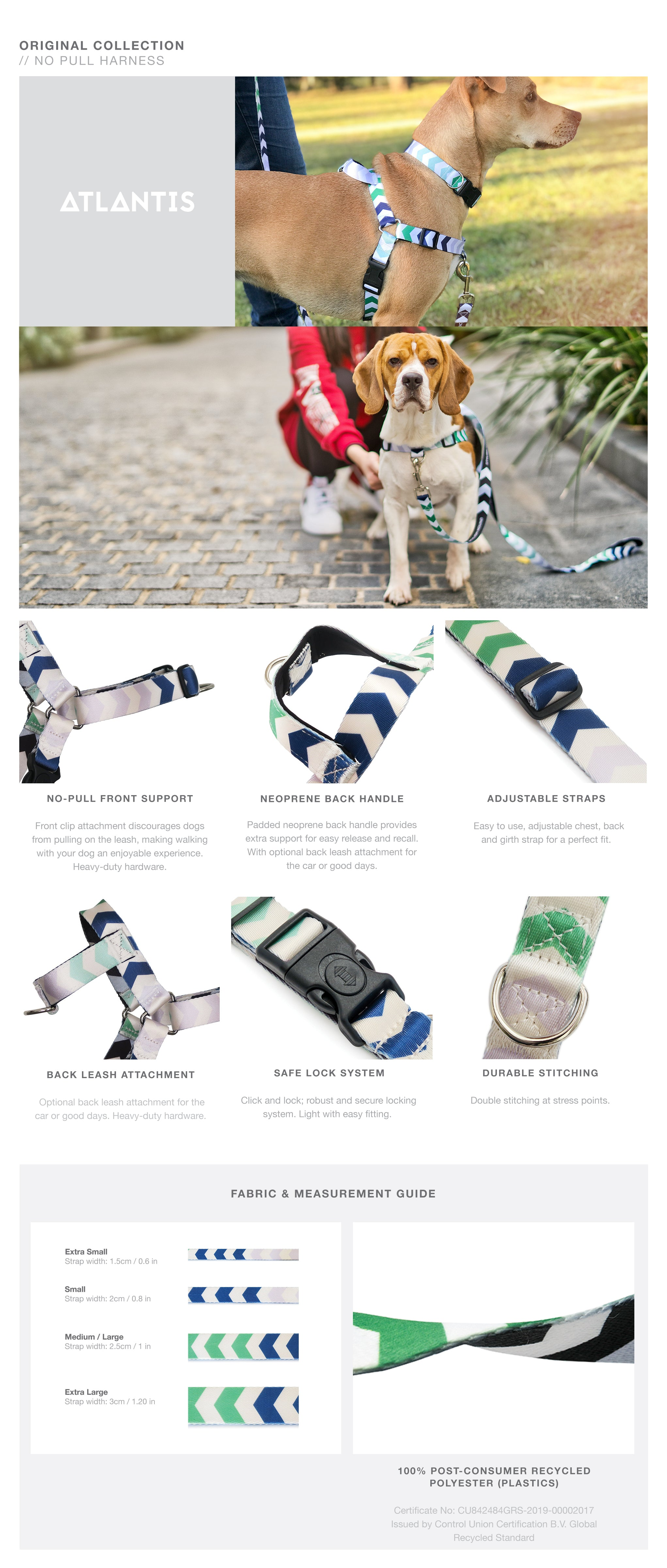 Atlantis OG No-Pull Training Harness with Padded Buddy