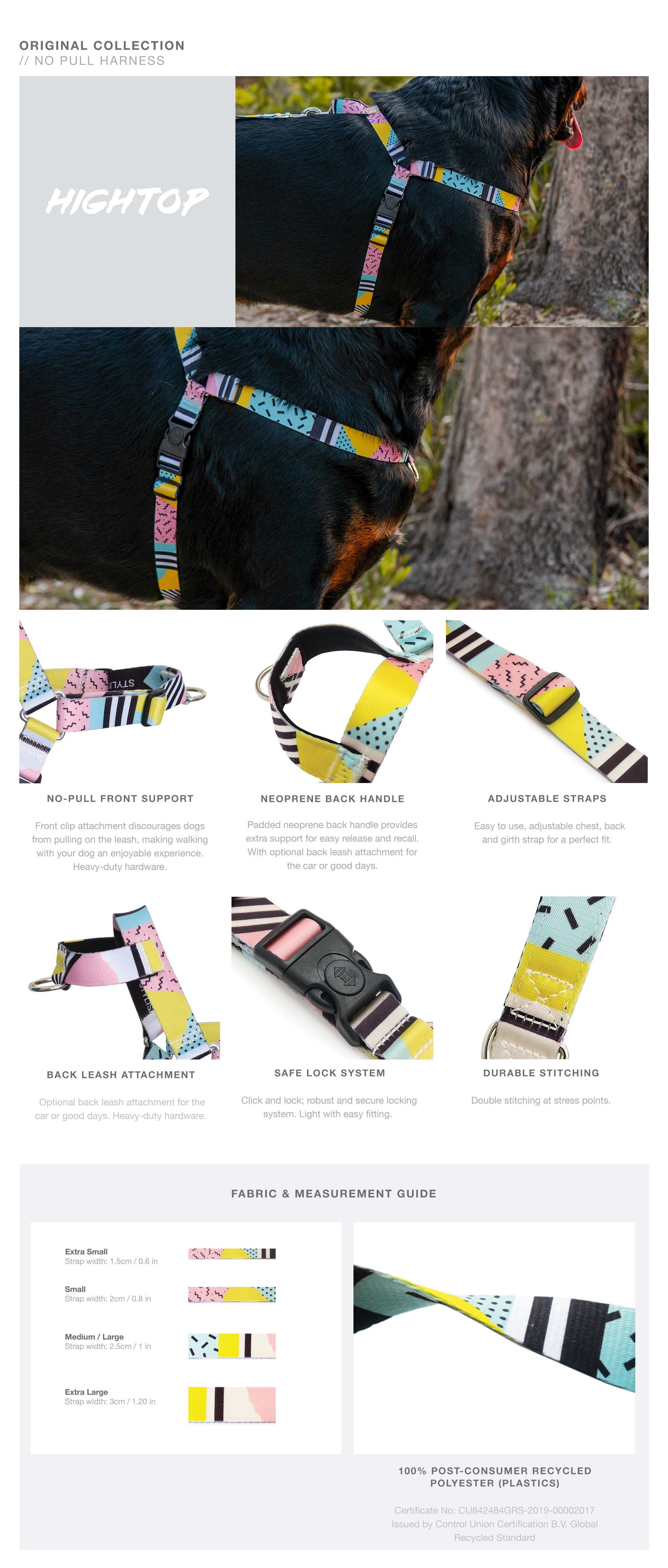 High Top OG No-Pull Training Harness with Padded Buddy