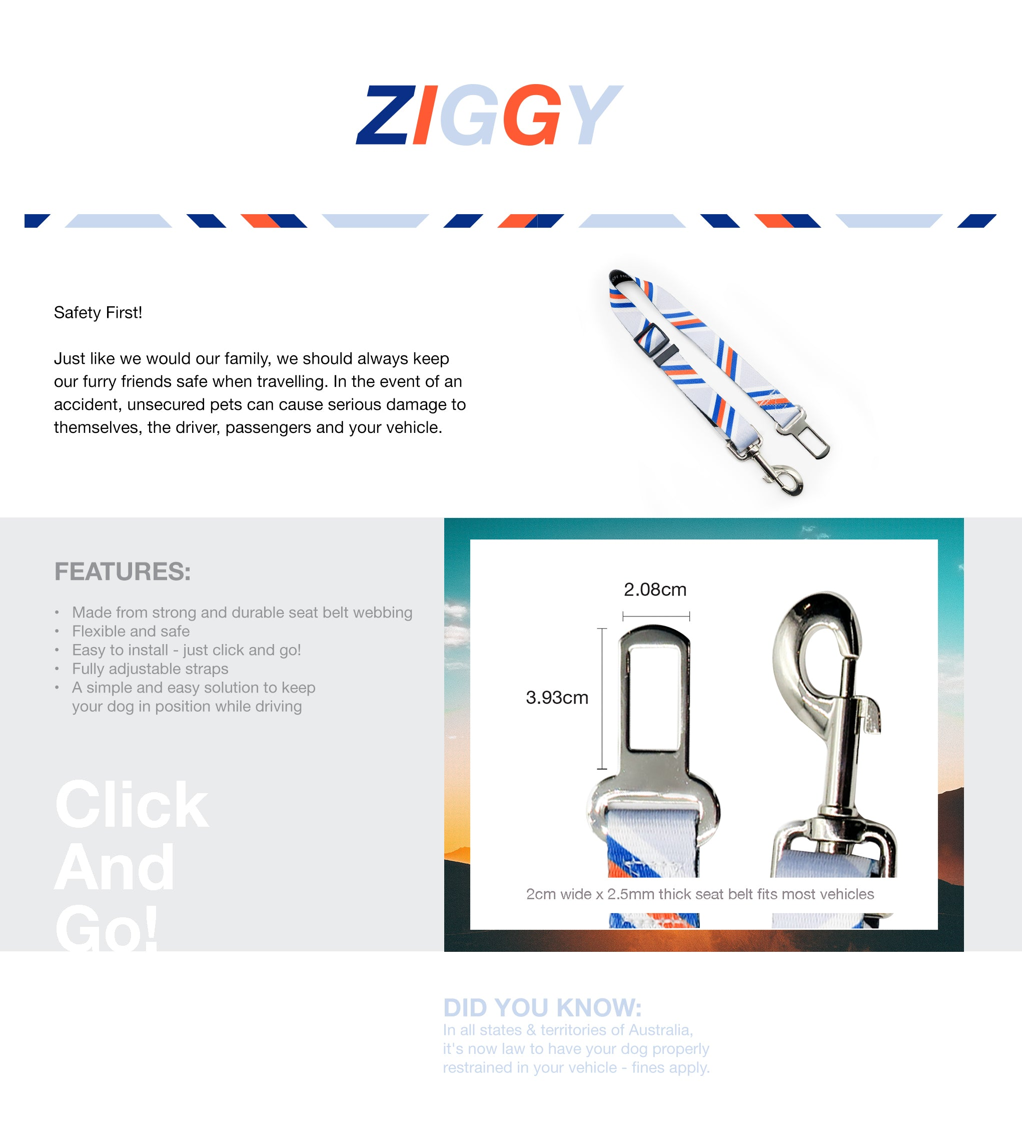 Ziggy Seat Belt