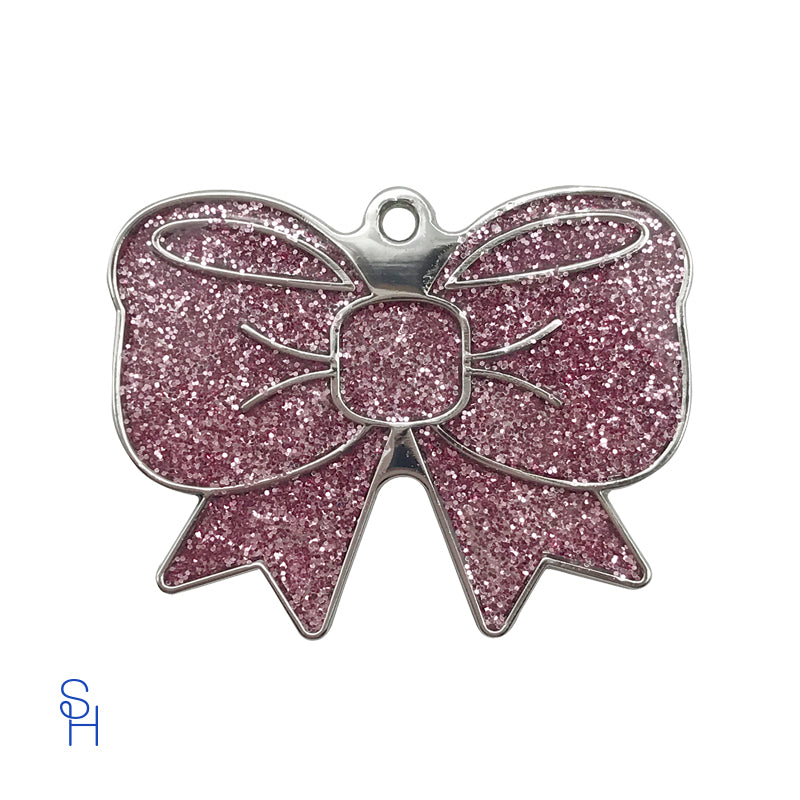Bow Pink Sparkle Charm - stylish-hound.com