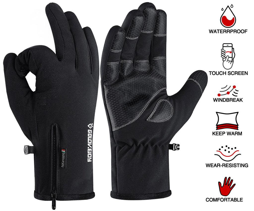 Touchable Gloves Winter Waterproof Gloves Mens Women Winter Warm and Cold Gloves
