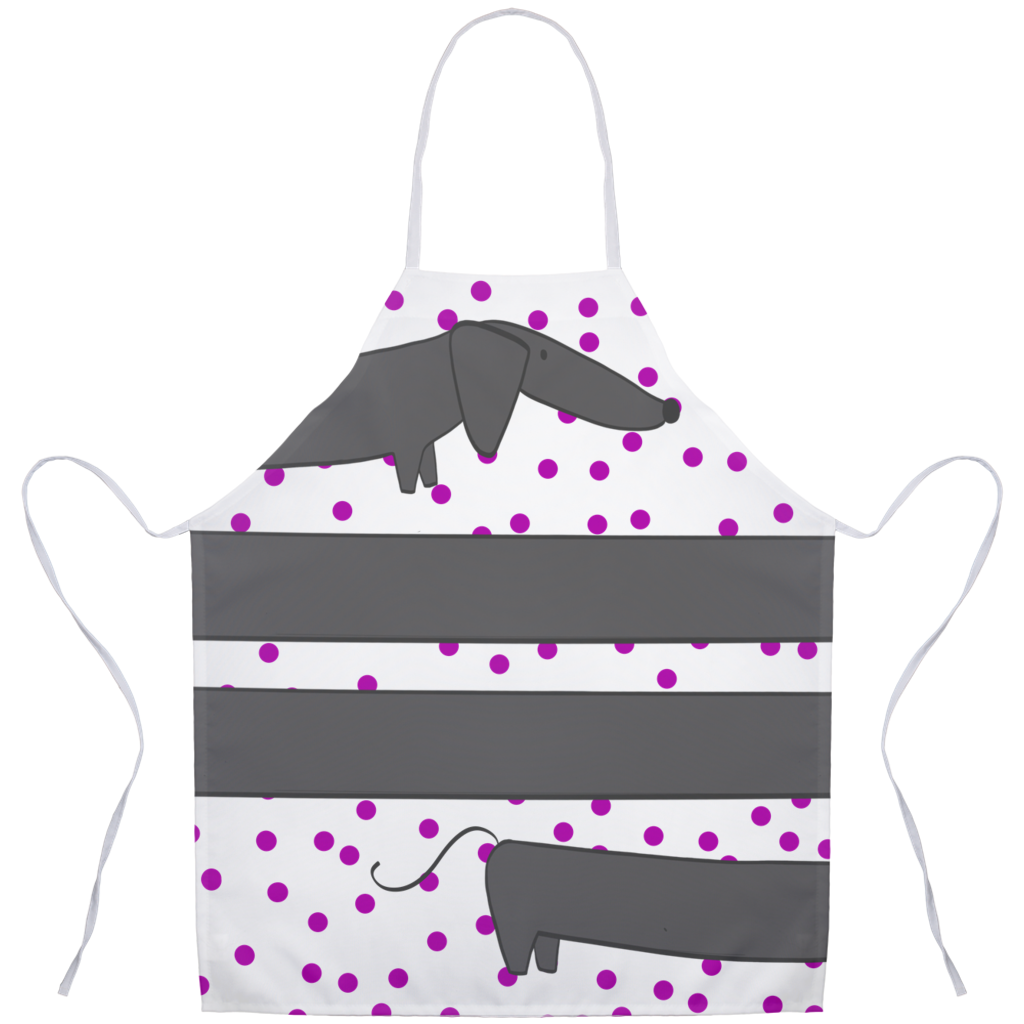 Weenie Dog Aprons, Dachshund Apron, Dachshund Kitchen Decor, Dog Apron
