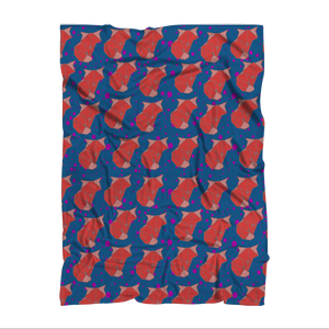 Foxy Sublimation Adult Blanket