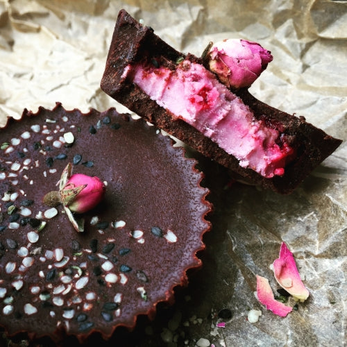 Raw Raspberry Rose Coconut Butter Cups