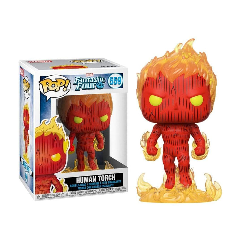 Funko Pop Marvel Fantastic Four Human Torch - Epicland  (4434110152817)
