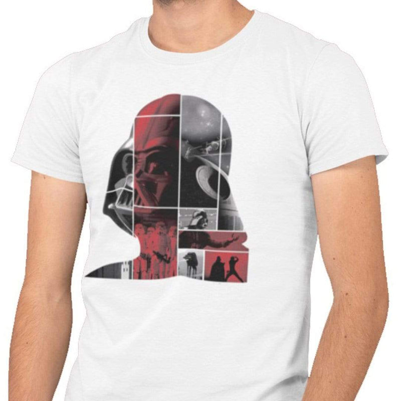 Playera Caballero Exclusiva Blanca Darth Vader Cuadros - Epicland