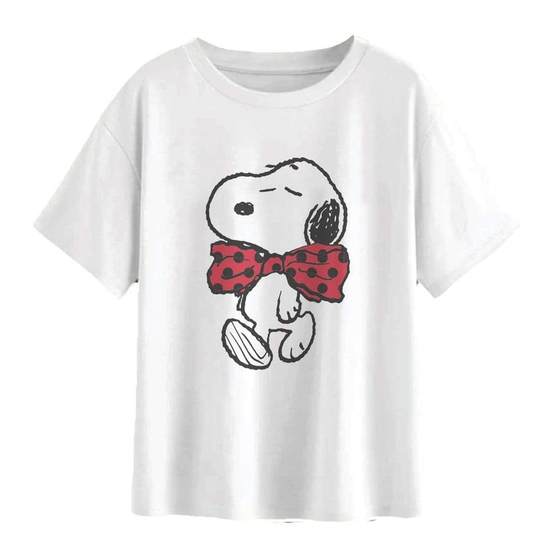 Playera Dama Am Blanca Snoopy Con Monio - Epicland  (4613889097841)