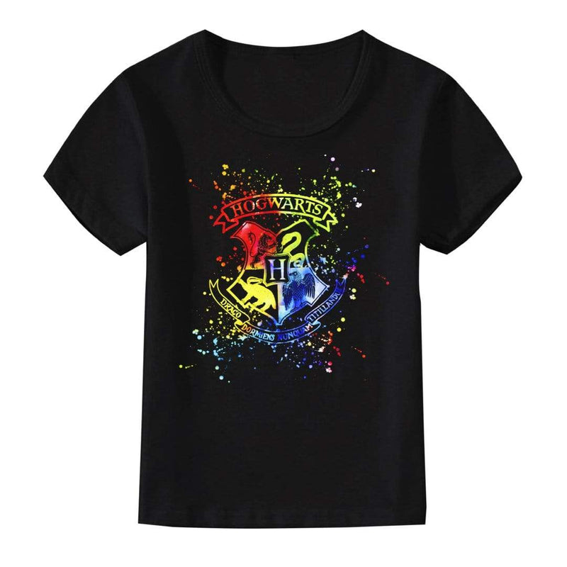 Playera Dama Am Negro 4 Casas Harry Potter A Color - Epicland  (4613889294449)