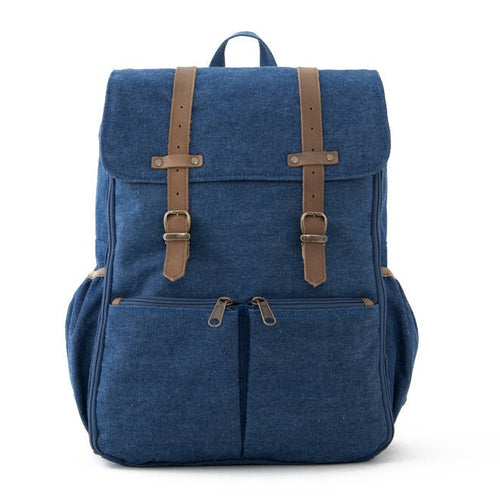 Limited Edition Blue Denim Diaper Bag Backpack