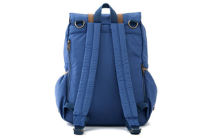 Blue Nylon Diaper Bag Backpack