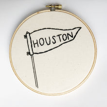 Houston City Embroidered Hoop