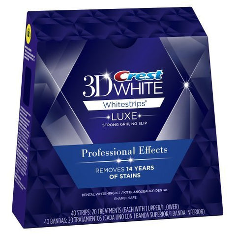 Crest 3D Whitestrips Professional Effects White Strips - 40 Strips (20 Treatments - Retail boxed) Teeth Whitening Kit
