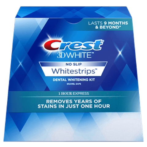 Crest 3D White 1 Hour Express White Strips (7 day course) - UK Crest Strips - Janofi