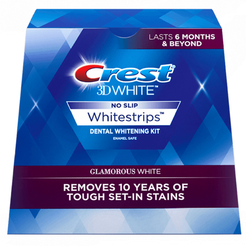 Crest 3D Glamorous White Luxe Whitestrip Teeth Whitening Kit - UK Crest Strips - Janofi