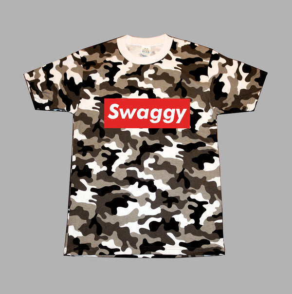 Camo Cool Swaggy T-Shirts for Summer 100% Cotton Shirt sleeve with high neck line