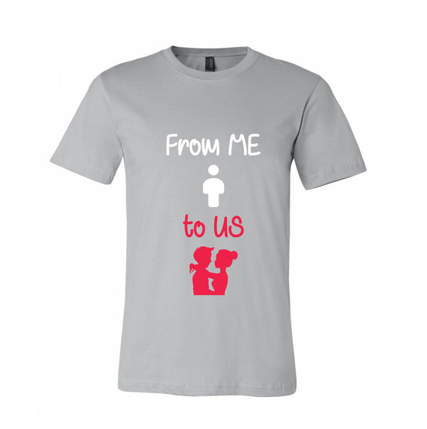 Single to Couple Couple designed T-Shirt Transformation Happy Love 100% Cotton Giftable