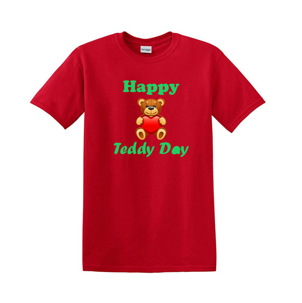 Cute Teddy on the shirt Happy teddy day Valentine's Day gift