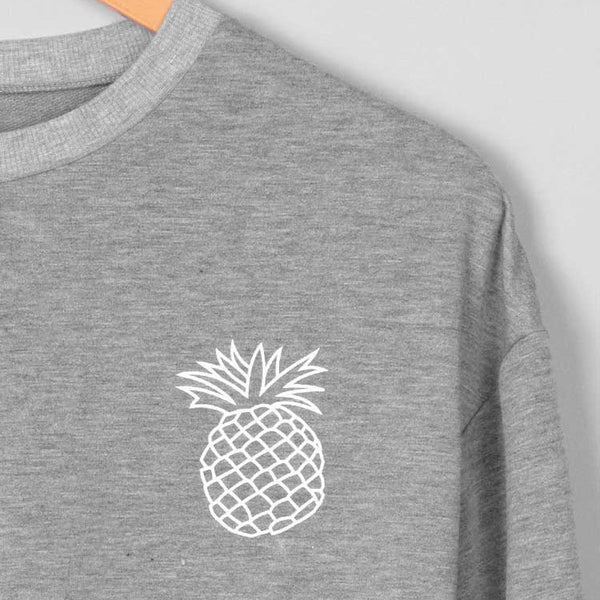 Women Hoodie Printing Pineapple Sweatshirt Jumper Sweater Crop Pullover Tops