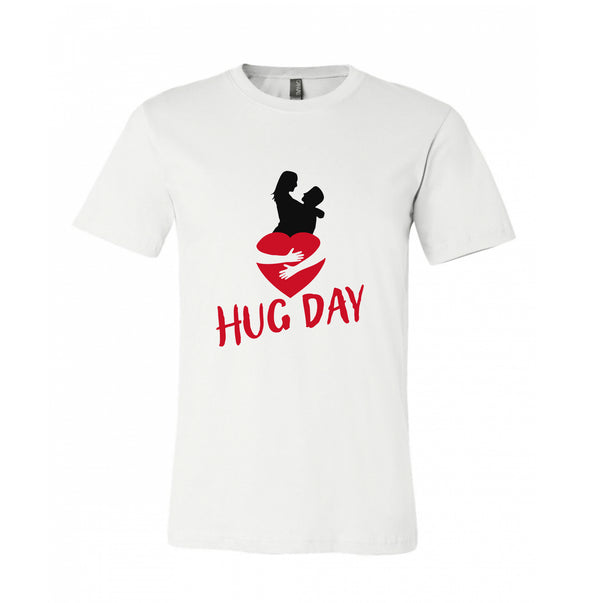 Hug Day Couple Hugging inside Love Symbol 100% Cotton T-Shirt Best Gift