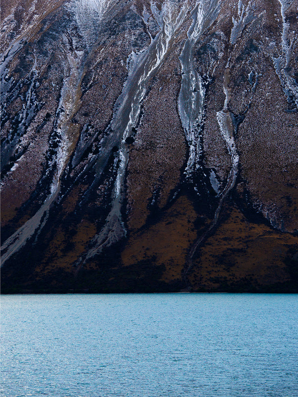 New Zealand Abstract Image of a Mountain at Lake Ohau
