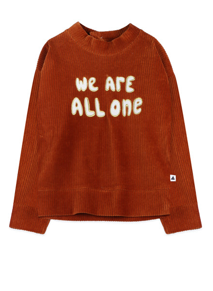 We Are All One Corduroy Sweater