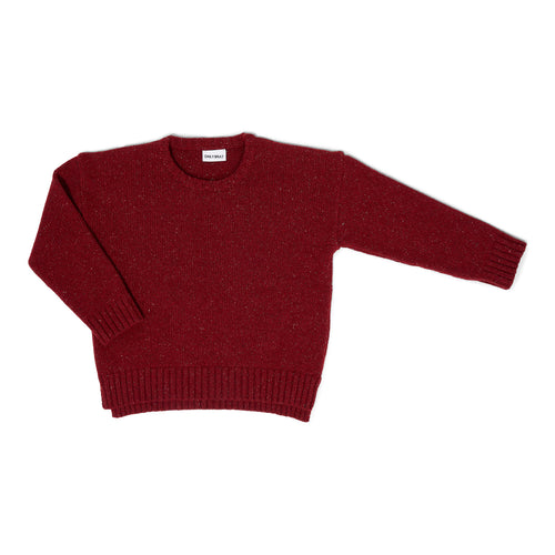Ashton Oversized Freckled Knit - Red