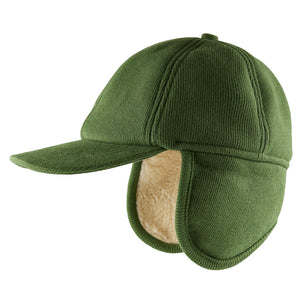 Winter Cap - Green/Beige
