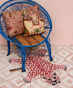Pinky Leopard Rug - Small