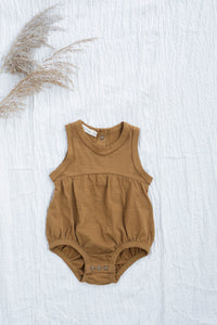 Gold Chamomile Baby Romper