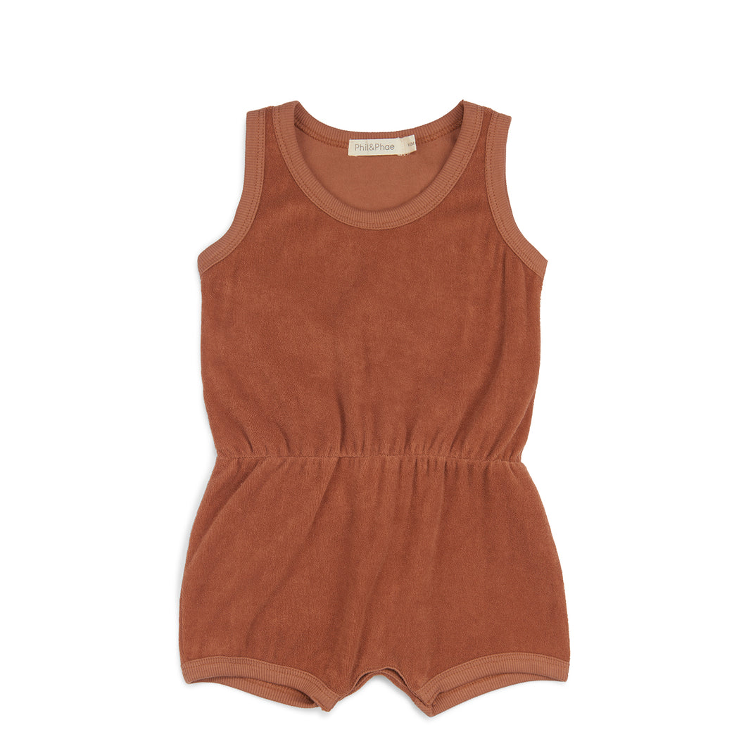 Frotté Playsuit - Burnt Clay
