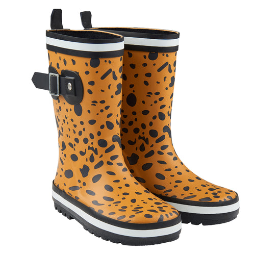 Spotted Animal Print Rain Boots