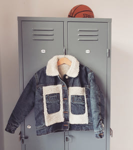 Chuck Denim Vintage Aged Teddy Jacket