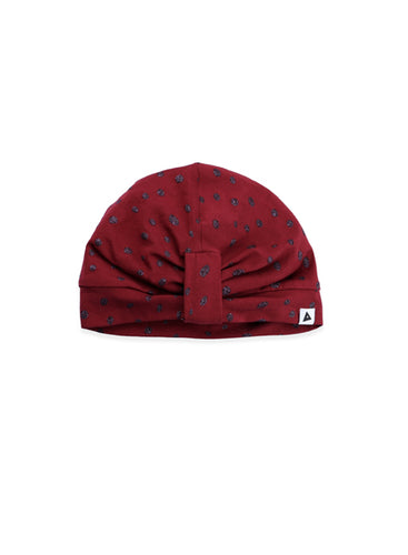 Bordeaux Dot Turban