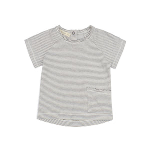 Raw-Edged Tee - Vanilla Stripe