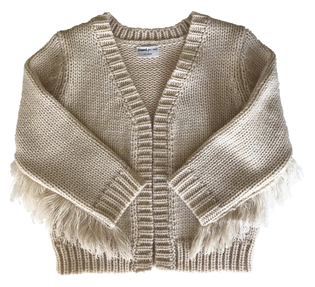 Crazy Cougar Fringes Knit Cardigan
