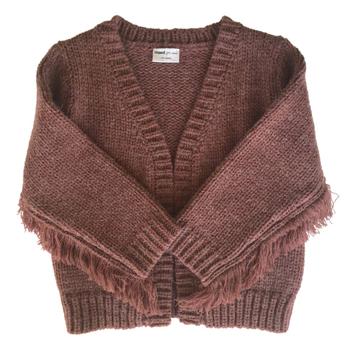 Eery Octopus Fringes Knit Cardigan