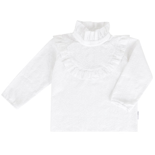 Frosty Fox Ruffle Blouse