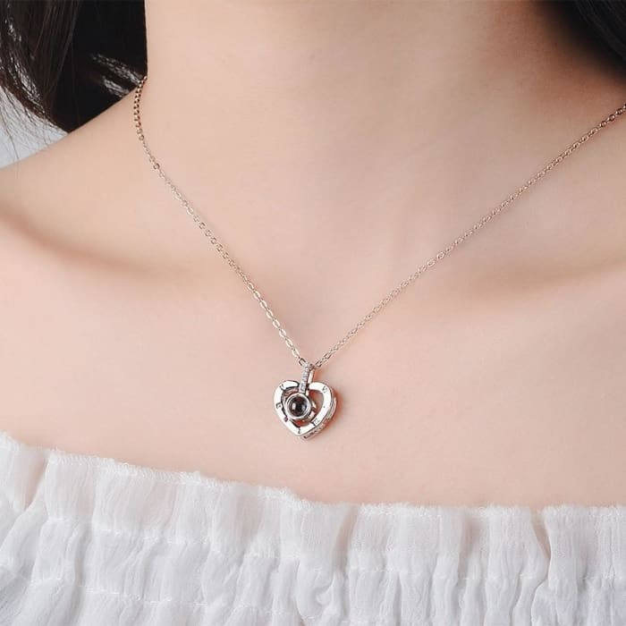 100 Language I Love You Heart Necklace