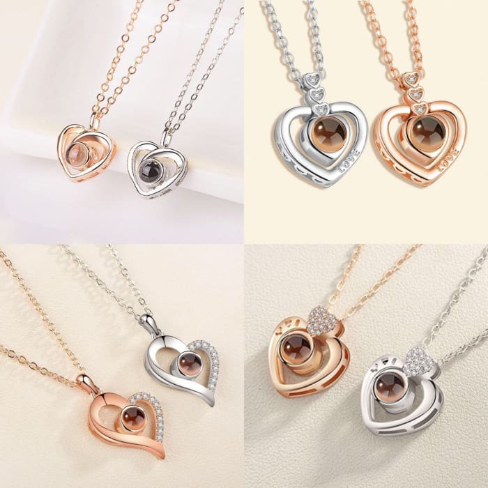 (4 Brand New Designs) I Love You Projection Necklace