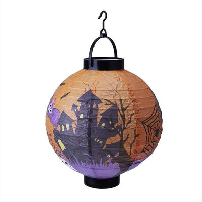 Halloween Decoration LED Paper Hanging Lantern