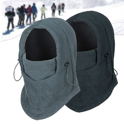 Thermal Fleece Hat Hooded Neck Warmer
