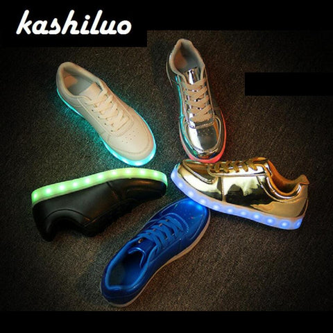 Luminous LIT Sneakers USB Charger