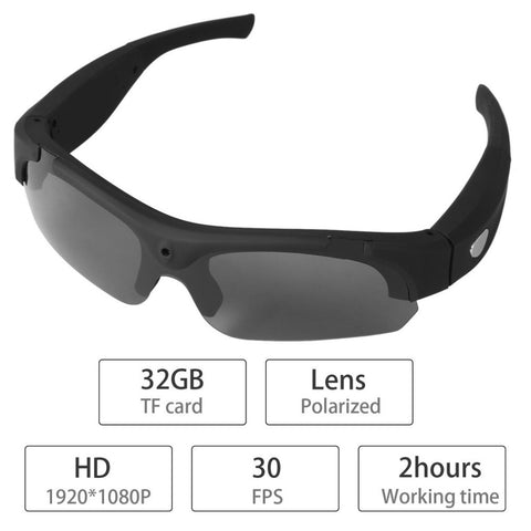 1080P HD Interchangeable Polarized-lenses Sunglasses Camera Video Recorder