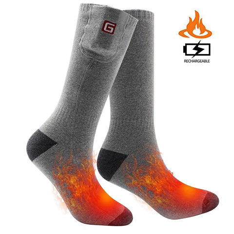 2018 HOT FEET Heated Socks Lithium Battery