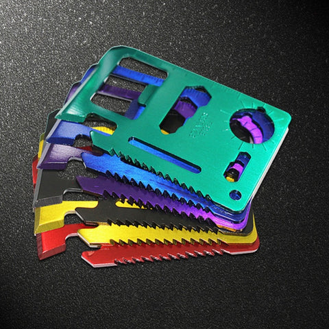 Credit Card Size survival Tool Kit Multi Colors