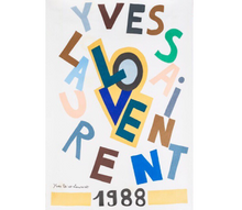 Load image into Gallery viewer, YSL 1988 Love Print