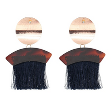 Load image into Gallery viewer, Boheme Fringe Drop Earrings